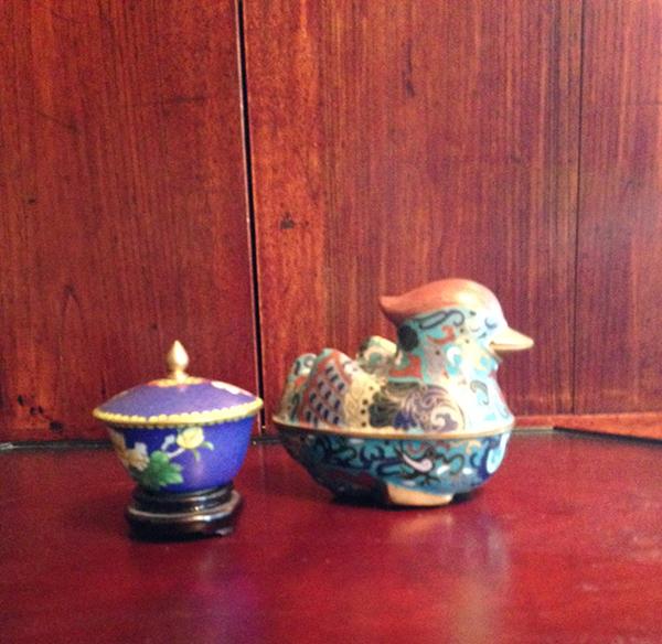Cloisonne duck